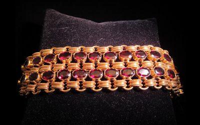 garnet-link-bracelet-french-hallmarked