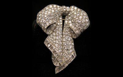diamond flower brooch chicago