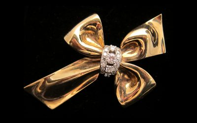 diamond Flower brooch Chicago