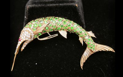 diamond Fish brooch Chicago