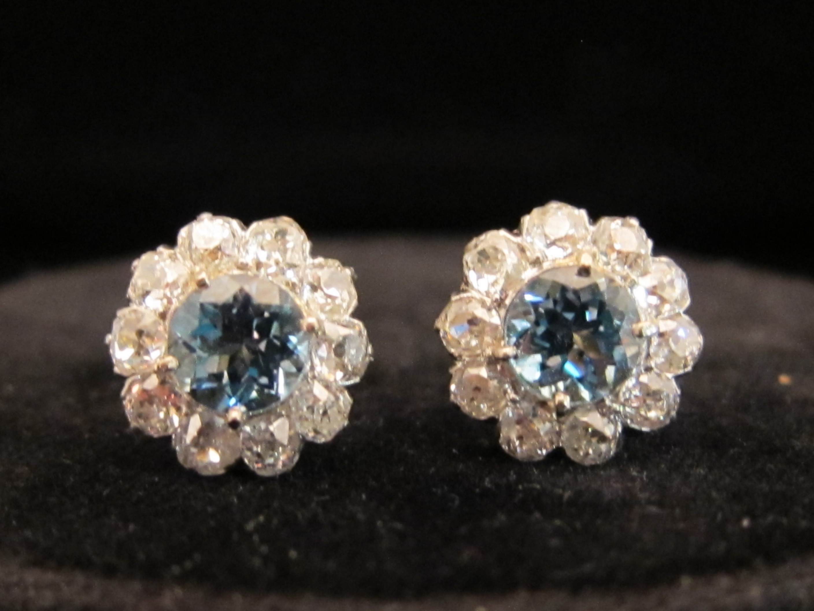 vintage diamond earrings chicago