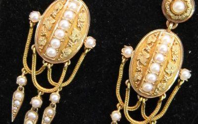 vintage diamond earrings chicago