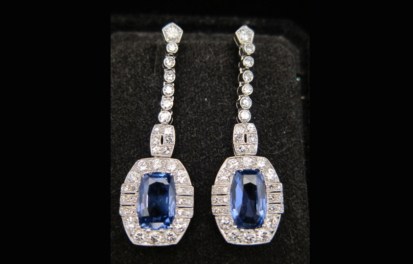 Antique Diamond Earrings Chicago