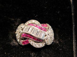 Topaz and Diamond dress ring