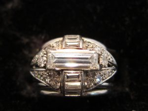 Diamond, man's or ladies dress ring