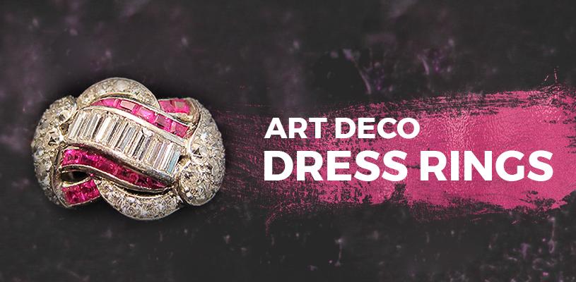art deco dress rings