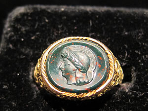 Cherub, Satyr Intaglio Ring