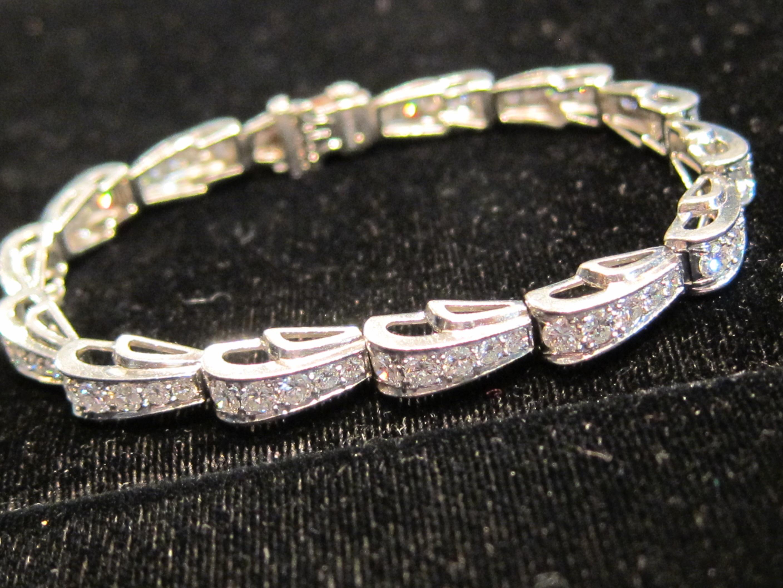 American Platinum & Diamond Bracelet by Oscar Heyman c1930