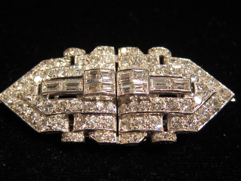 Diamond Double clip/brooch Chicago