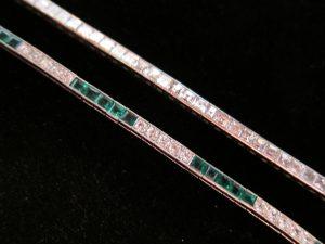 Stacked Art Deco bracelets circa 1930