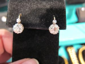 Edwardian Diamond drops with French Backs. circa 1910