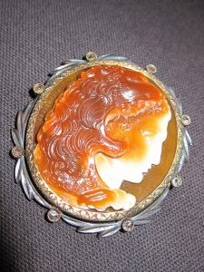 Agate Cameo of Hercules, in laurel wreath frame