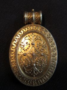 Etruscan Revival locket signed Castellani