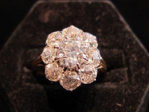 Platinum on Gold the original 'Moi et Toi' engagement ring