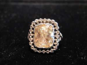 Rose Cut Diamond Cluster Ring, circa 1825
