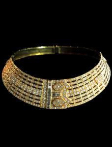 Retro Diamond Torque Necklace Chicago