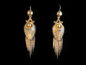 Victorian fringe drop earrings