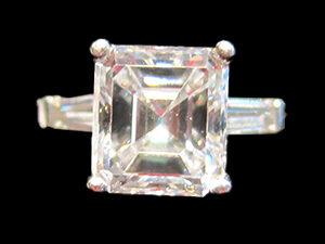 Square Cut Diamond ring, Circa 1925