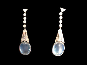 Victorian Silver on Gold, diamond drop earrings