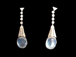 Victorian Silver on Gold, diamond drop earrings
