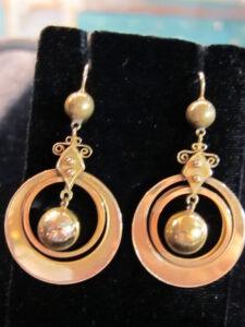 gold drop earring