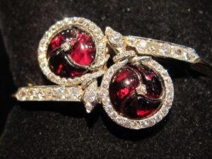 Diamond double snake bangle