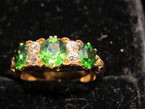 Diamond Victorian 'half hoop' ring