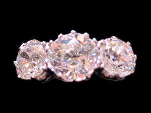 multi diamond engagement ring